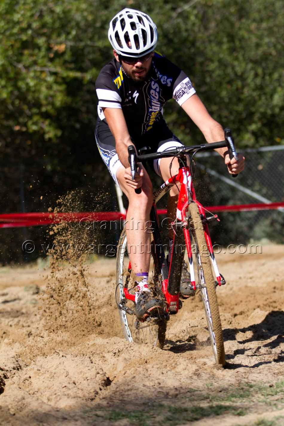 The Course at SacCX Lembi Park had Riders go through the Sand Pit Twice