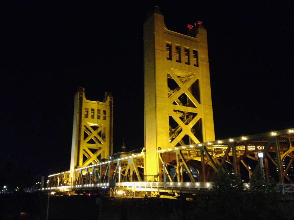 "Sacramento's ""Golden"" Tower Bridge - Photo Credit Jeff Namba"