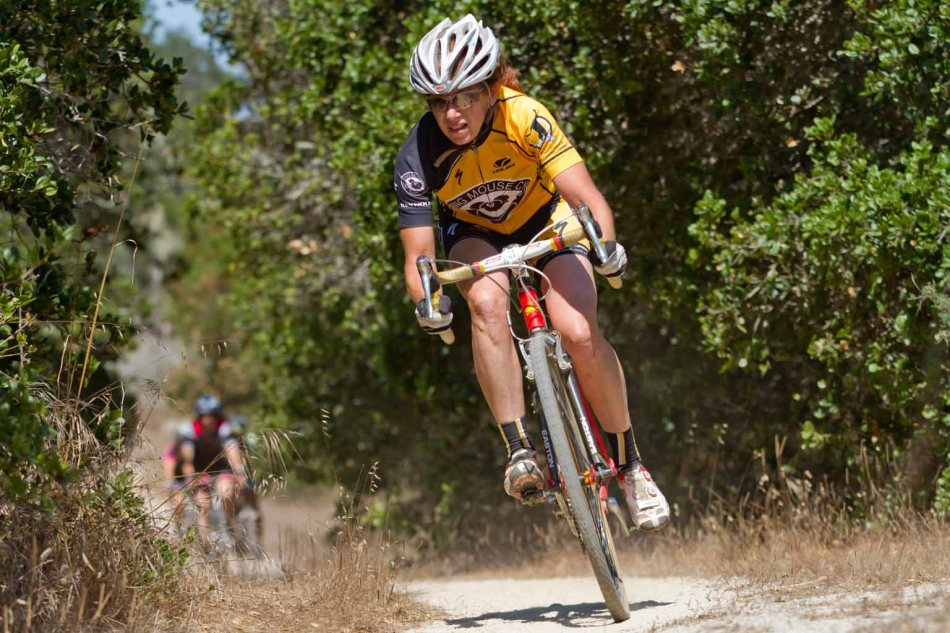 Julie Bates Representing the Roaring Mice at Fort Ord