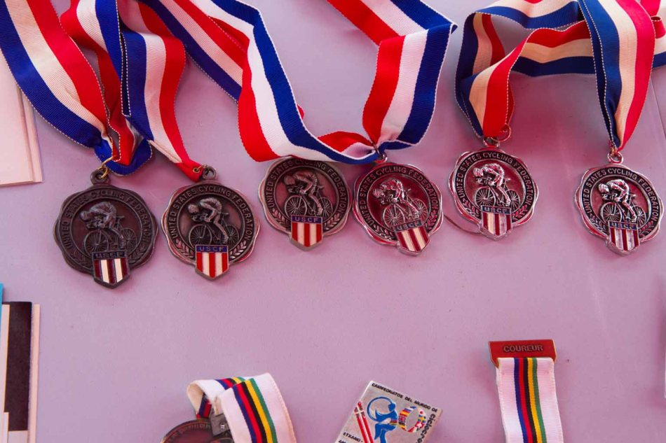 Just a few of the medals earned by Clark Natwick