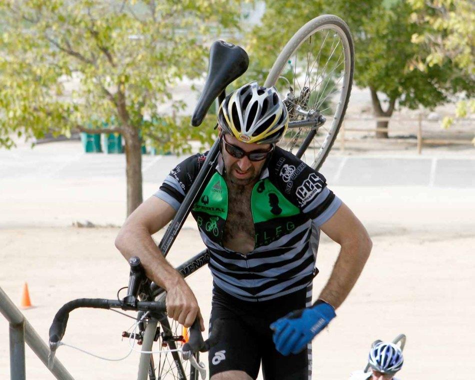 Noah Silverman Carrying on the Big Run-Up at Hidden Valley