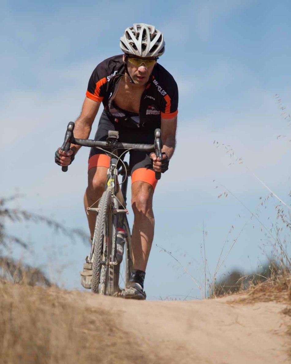 Dave Tripier (Summit Bikes CX) comfortable in his manhood