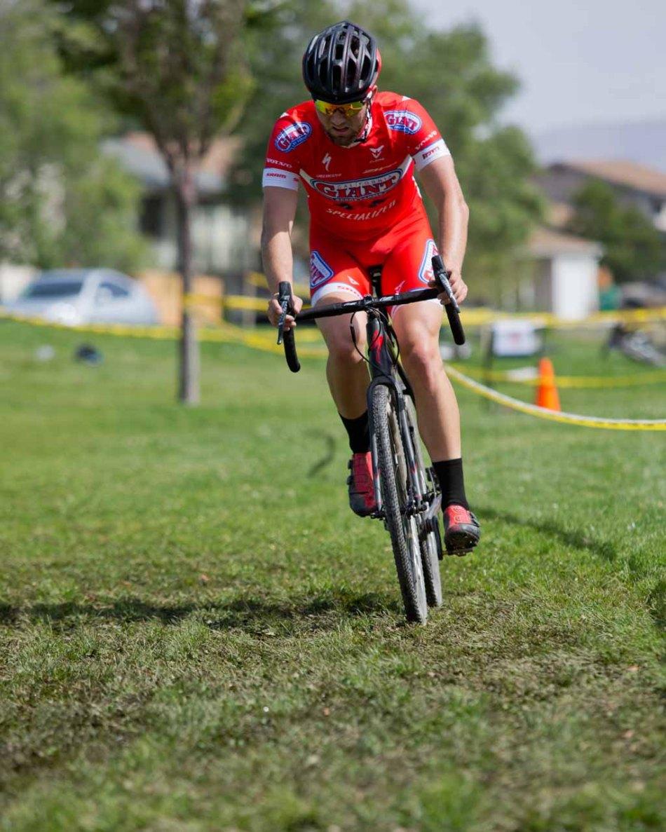 Tobin Ortenblad (Cal Giant) Racing through Soggy Grass