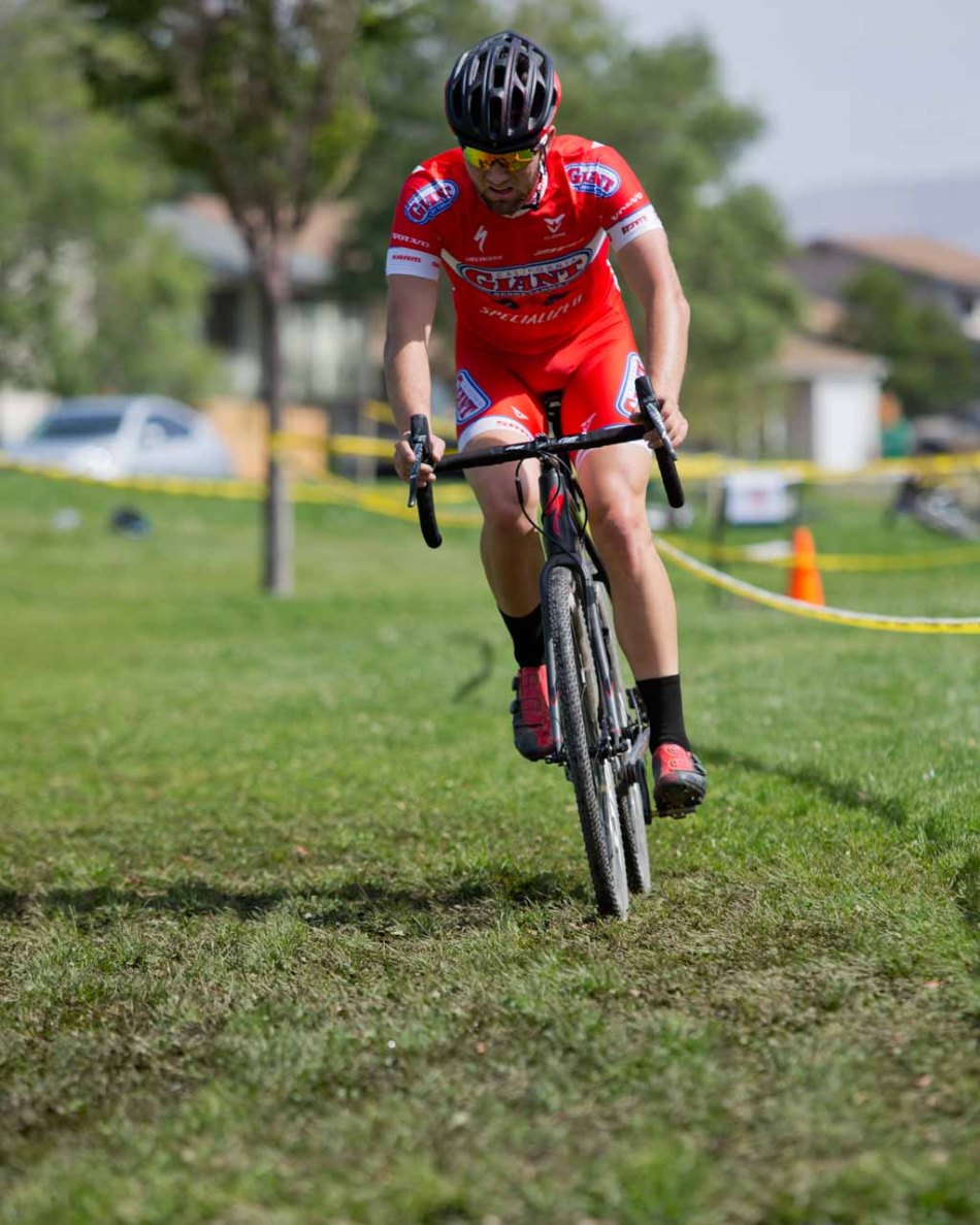 Tobin Ortenblad (Cal Giant) Racing through Soggy Grass