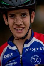 Is this the face of a future cyclocross rock star? Ben Gomez-Villafañe