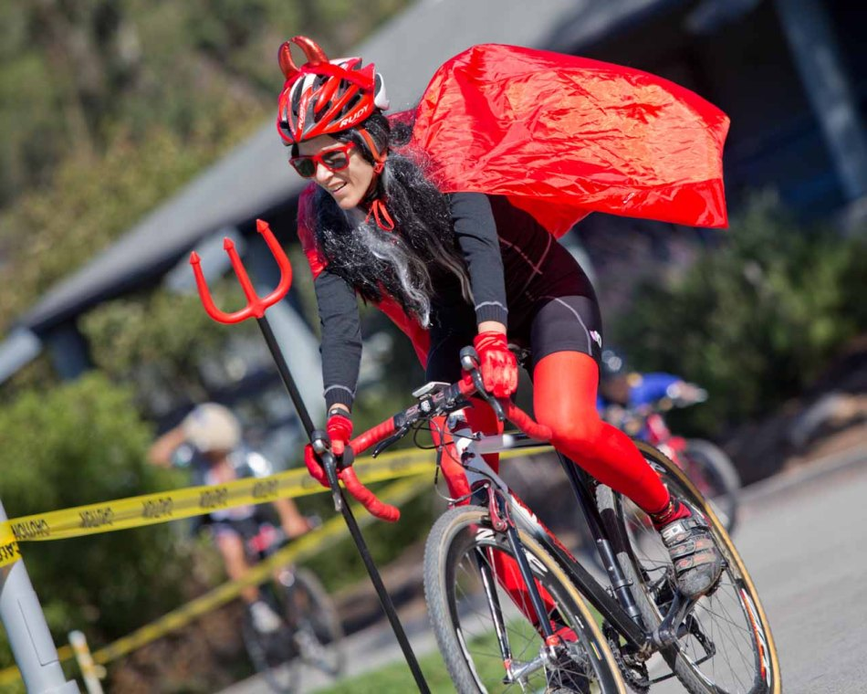 What does the devil do at a 'cross race?