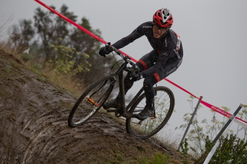 Jim Lund in the Wet and Messy Conditions Earlier in the Day