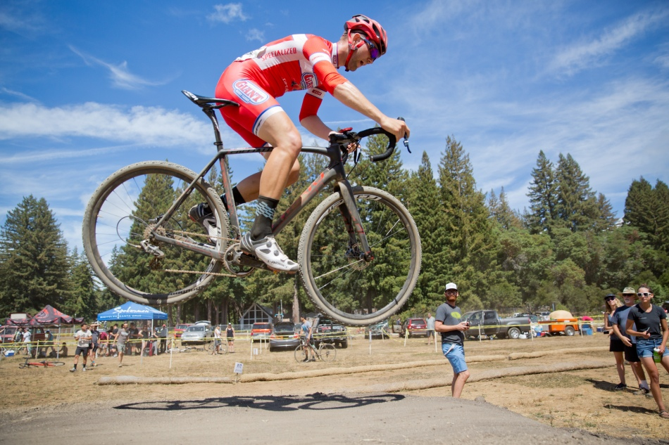Ortenblad Grabs Some Air for the Spectators at the Lobster Cup
