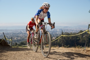 Karen Brems Leads Elle Anderson around Lookout Point