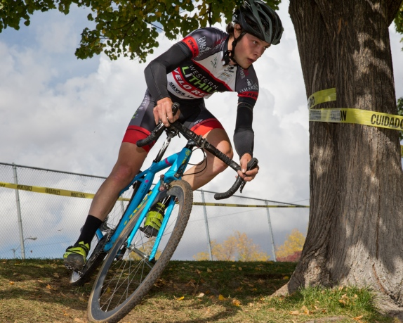 Mike Larson (Velo Reno) puts in a Storming Race