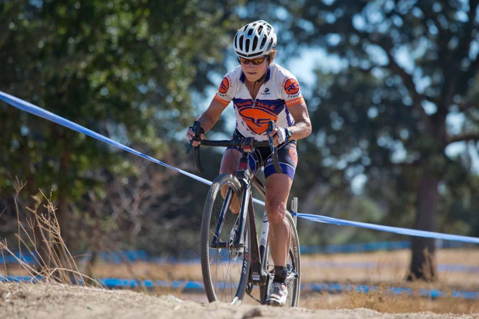Julie Young (Roseville Cyclery) taking to Cyclocross