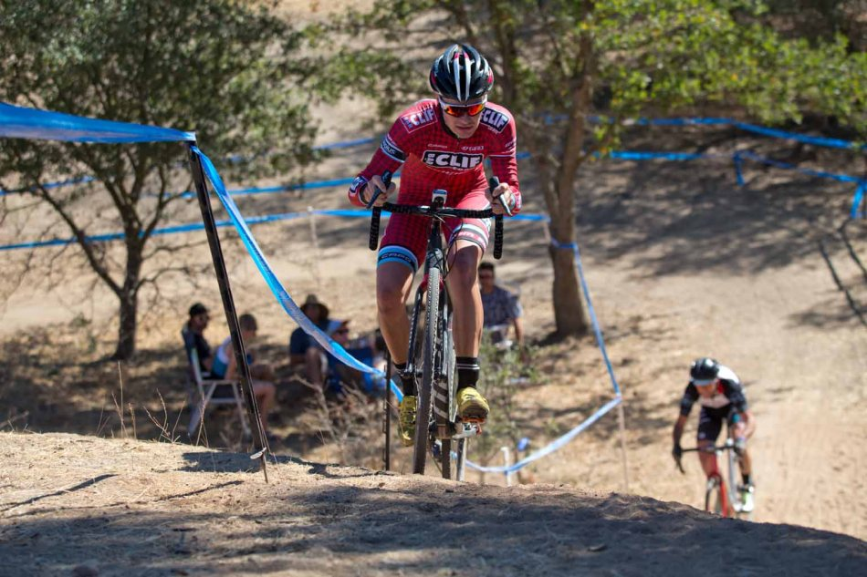 Liam Dunn (Clif Bar) Leads Gareth Feldstein (Real Wheels) Up the Big Maidu Run-Up