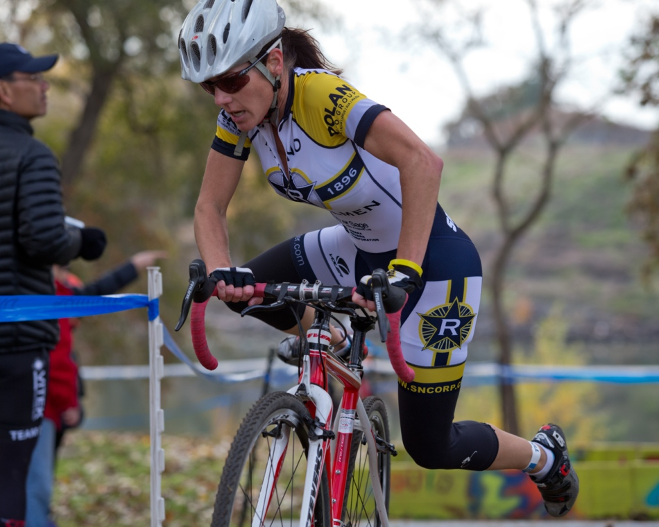 Kim Vendersyde making the Trek from Reno to Win at SacCX Miller Park