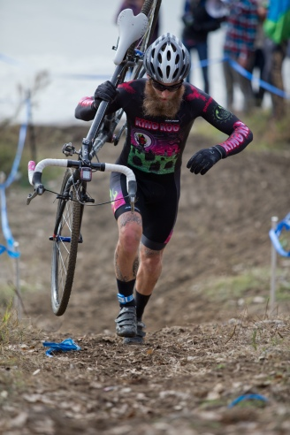 Kell McKenzie Charging to Fifth at SacCX Miller Park